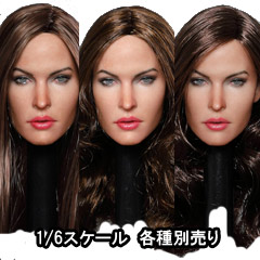 【GACTOYS】GC029 European and American women's head carving 1/6スケール 植毛 女性ヘッド