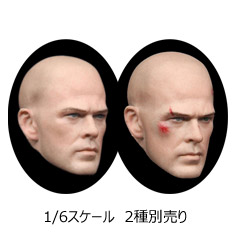 【HSPTOYS】1001A B European male head sculpture 1/6スケール 男性ヘッド
