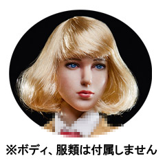 【星漫 STAR MAN】MS-004 1/6 All-purpose Beauty Head Sculpture 1/6スケール 植毛 女性ヘッド