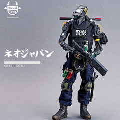 【Devil Toys】The Neo Japan 2202 -- Neo Keisatsu 1/6 Scale Action Figure ネオジャパン2202 ネオ警察 1/6スケールフィギュア