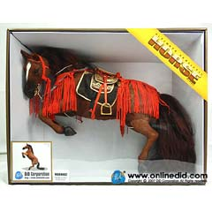 【DID】E60026 ULTIMATE REALISTIC HORSE for all era Rearing 馬(リア)茶 鞍=和風