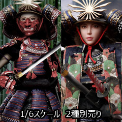 【i8TOYS】002AB Ryou 1/6 Scale Collectible female action figure 女武士 侍 凌 りょう 紅色&黒色甲冑版 1/6スケール女性フィギュア