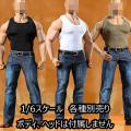 【ToyCenter】CEN-M16 A B C Strong man sports vest jeans suit 1/6スケール 男性フィギュア用コスチュームセット