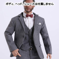 【FIYCATTOYS】FC001 grey slim suit 1/6スケール 男性用スーツ