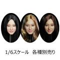 【SUPERDUCK】SDH020 A B C 1/6スケール 植毛 女性ヘッド