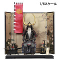 【COO】SE031 黒糸威水牛形大横立具足 具足 1/6スケール 鎧・甲冑セット