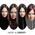 【SUPERDUCK】SDH016 A B C D 1/6スケール 植毛 女性ヘッド
