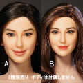 【SEXY TOY】SX-8861 A B women's head carving 1/6スケール 植毛 女性ヘッド