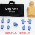 【ToysEngine】TE007 1/6 5pairs surgical gloves Interchangeable Hands サージカルグローブハンド&AEDリトルマネキン ミニチュア