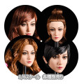 【YMtoys】YMT027 ABCD beauty headsculpt 1/6スケール 植毛 女性ヘッド hk-3929