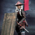 【POPtoys】W04B Ashigaru Spear Deluxe version 戦国時代 赤備隊 赤備え 足軽 槍兵 DX版 1/6スケール男性フィギュア