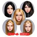 【YMtoys】YMT029 ABCDE beauty headsculpt 1/6スケール 植毛 女性ヘッド hk-4098