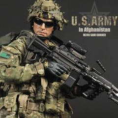 【Soldier Story】1/6 U.S. ARMY IN AFGHANISTAN M249 GUNNER アメリカ軍 M249 SAWガンナー(アフガニスタン)