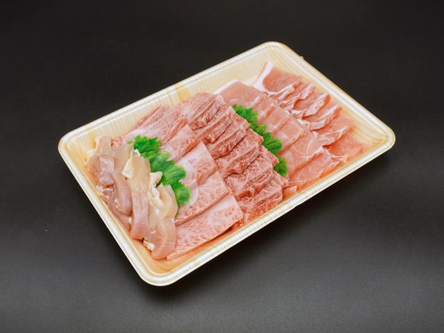 広島尽くしセット鶏モモ牛カルビ豚ロース