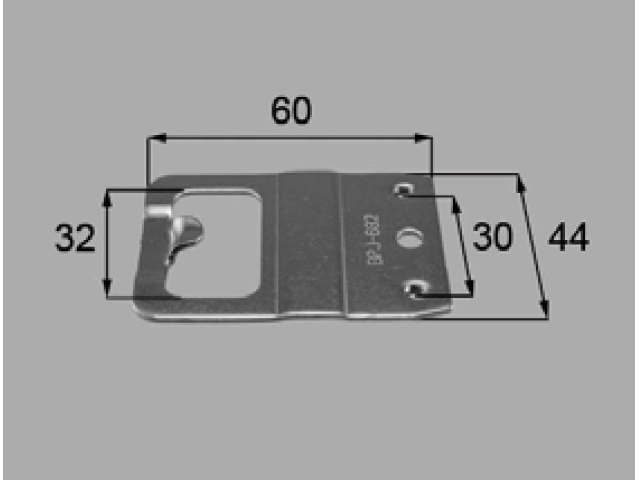 トステム アトモス2 PG障子窓用 クレセント受け BPJ682 全長60ミリ 【ネコポス可】