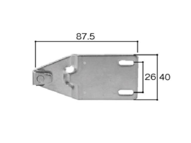 トステム TBH70AT用 クレセント受け BZC30 全長89.5ミリ 【ネコポス可】