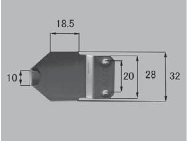トステム アトモス2 TL障子用 クレセント受け CPJ272 全長54ミリ 【ネコポス可】