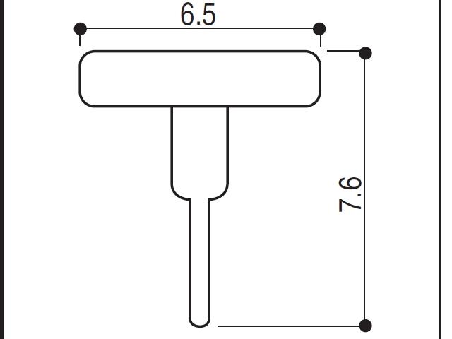 YKK ビル用網戸 虫除けゴム 6.5×7.6 2K2401A 【ネコポス可】