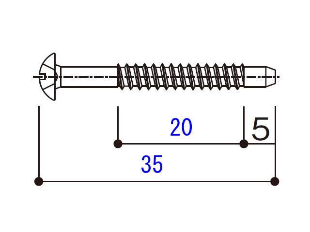 小トラスタッピングねじ 4×35 BM4035N 【ネコポス可】