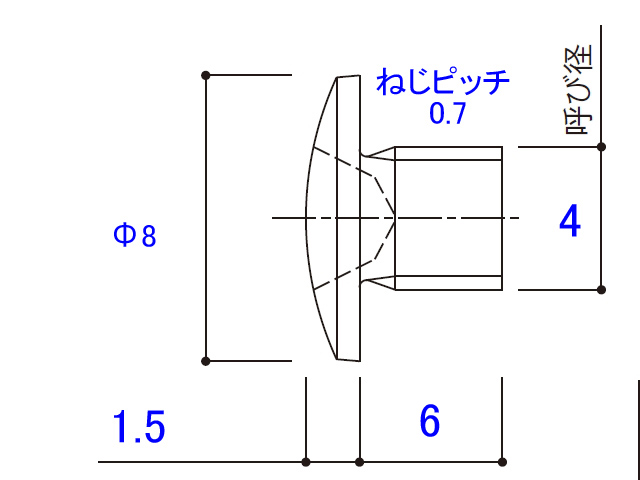 薄バインド小ねじ 4×6 MS-4006 【ネコポス可】