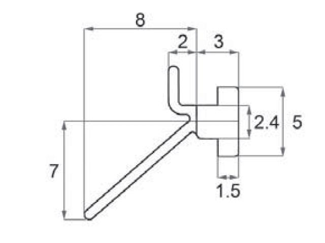 トステム ビル用網戸 虫除けゴム 5×11  BMPT80