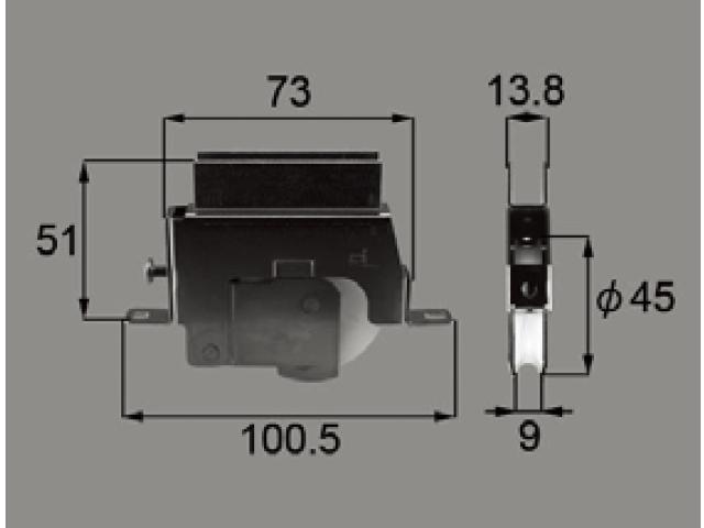 新日軽ビル用サッシ戸車LC120 (SVW166S01) 【ネコポス可】