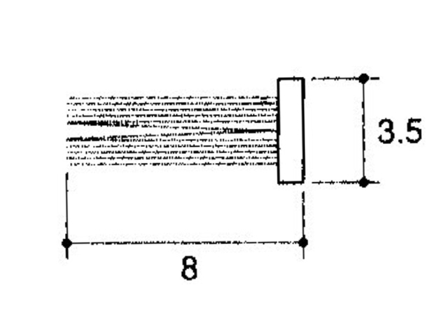 フィン付きモヘア 3.5×8.0 立山アルミ PKT6003 【ネコポス可】