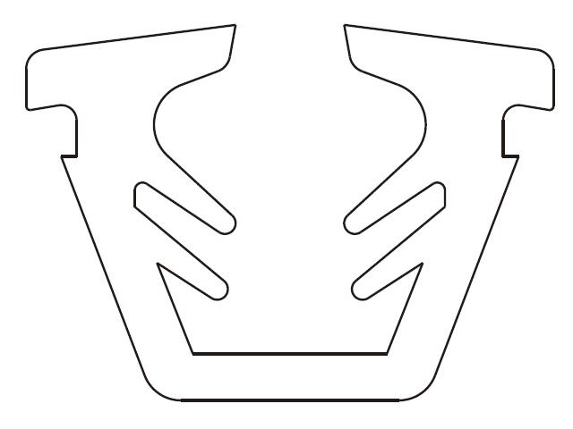 トステム 11ミリ口溝幅用 U型グレチャンビード  【クリックポスト可】