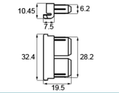トステム網戸中桟ブロック APJ125 【ネコポス可】