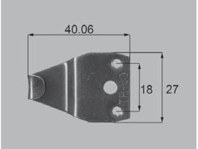 トステム CX用 クレセント受け AZG0010 全長40.06ミリ 【ネコポス可】