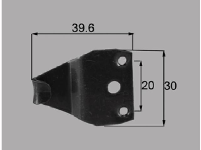 トステム CX用 クレセント受け AZG0011 全長39.6ミリ 【ネコポス可】