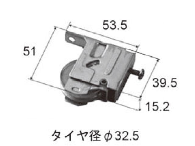 トステム サッシ TBR70 戸車 BHP165D 【ネコポス可】