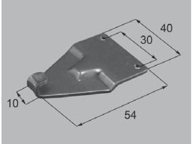 トステム ビル用 クレセント受け BHP409 全長56.5ミリ (メール便可)