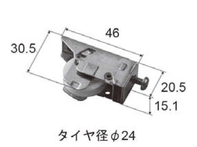 トステム サッシ TBR70 戸車 BHP60F 【ネコポス可】