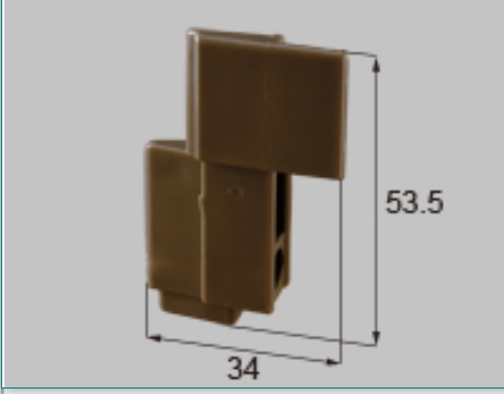 トステム ビル用網戸上部コーナーピース BMP73突き合わせ用