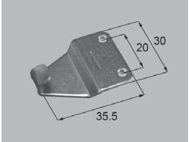 トステム BL-70B用 クレセント受け BZC2 全長37.5.5ミリ (メール便可)