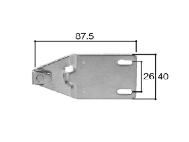 トステム TBH70AT用 クレセント受け BZC30 全長89.5ミリ (メール便可)