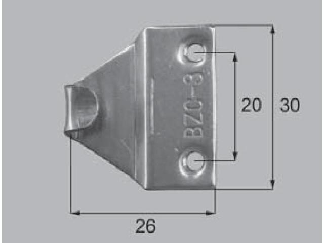 トステム BL-70B用 クレセント受け BZC3 全長28ミリ (メール便可)