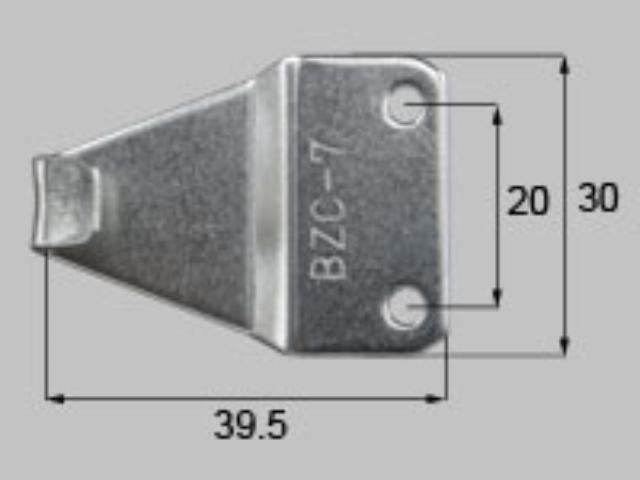 トステム TBR70N用 クレセント受け BZC7 全長41.5ミリ (メール便可)