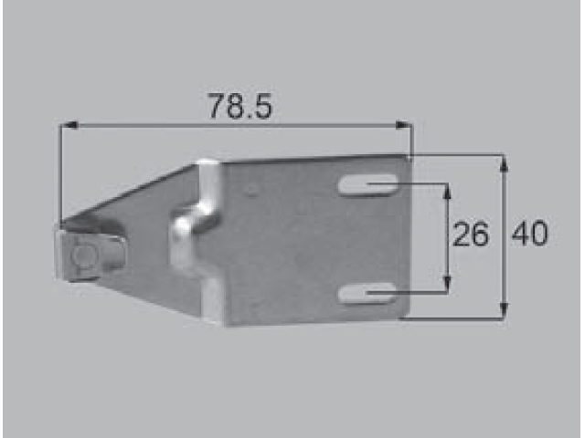 トステム TBH70AT用 クレセント受け BZC8 全長80ミリ (メール便可)