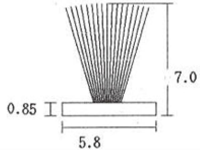 モヘア 5.8×7.0 トステム J3S101 【ネコポス可】