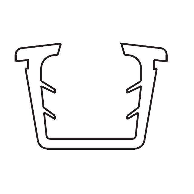 トステム 20ミリ口溝幅用 U字型グレチャンビード  12ミリガラス用【クリックポスト可】