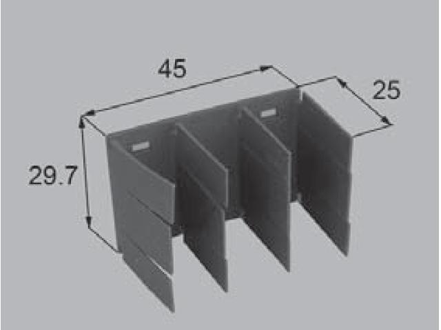 トステム サッシ上枠風止板PJ49B  【クリックポスト可】
