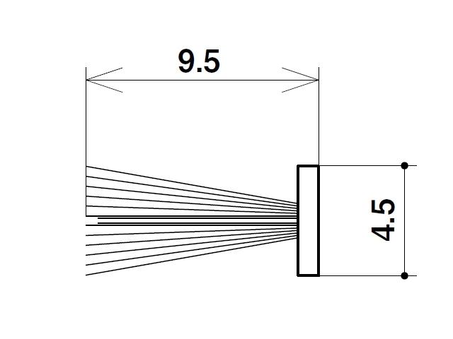 フィン付きモヘア 4.5×9.5 トステム YDM022 【ネコポス可】