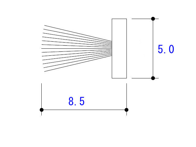モヘア5.0×8.5 YKK 2K25722 (メール便可)