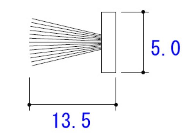 モヘア 5.0×13.5 YKK 2K25723