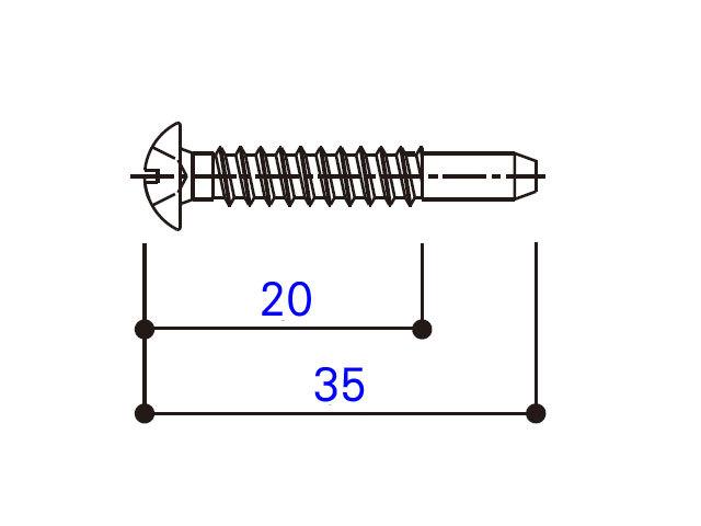 小トラスタッピングねじ 4×35 BM4035G