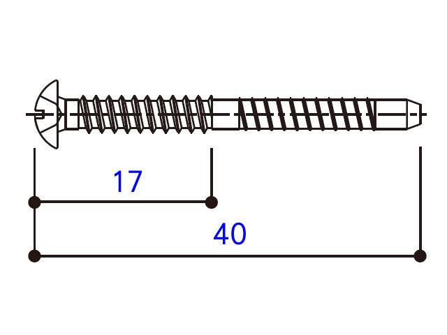 小トラスタッピングねじ 4×40 BM4040W 【ネコポス可】