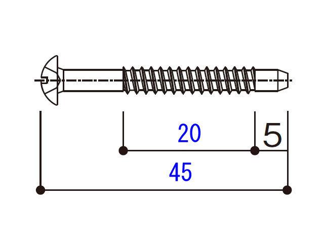 小トラスタッピングねじ 4×45 BM4045N 【ネコポス可】