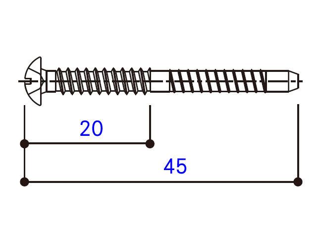小トラスタッピングねじ 4×45 BM4045W 【ネコポス可】